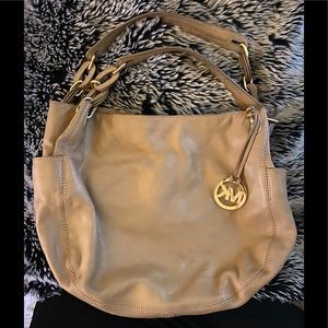 CLEAROUT MICHAEL Michael Kors tan leather hobo